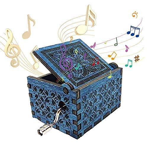 Dream Loom Wooden Music Box,Hand Crank Classical Carved Wooden Musical Box, Play Hedwig's Theme John Williams Song, Gift for Kids,Family and Friends (Wooden Box Musical)