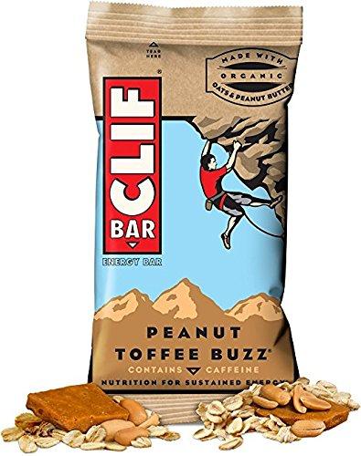 Clif Bar ENERGY BAR 24 Count, MLNFYnD Peanut Toffee Buzz