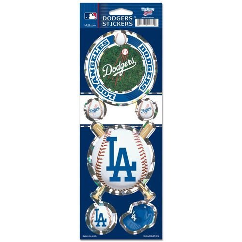 Wincraft MLB LOS ANGELES DODGERS TEAM LOGO DIE CUT holographic prismatic stickers MLB