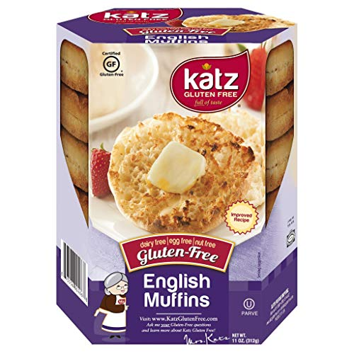 Katz Gluten Free English Muffins | Dairy, Nut and Gluten Free | Kosher (1 Pack of 4 Muffins, 11 Ounce)