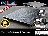 Selleton 60'' X 60'' (5' X 5') Heavy Duty Floor Scale With Ramp & Printer 2500 X .5 Lb
