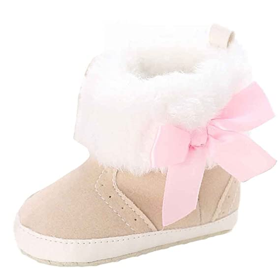 YanHoo Zapatos para niños Baby Keep Warm Soft Sole Snow Boots Zapatos de Cuna Blanda Toddler