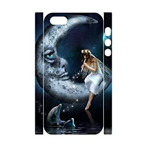 3D Bumper Plastic Customized Case Of Night Fairy for iPhone 5,5S