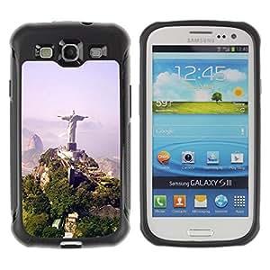 LASTONE PHONE CASE / Suave Silicona Caso Carcasa de Caucho Funda para Samsung Galaxy S3 I9300 / Architecture Brazil Jesus Statue
