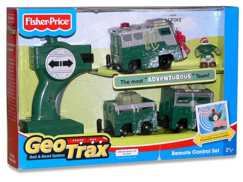 Fisher-Price GeoTrax Rail and Road System RC with Figure: Alpine and Will (Geotrax Train Remote Control)