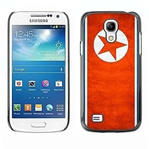 Shell-Star ( National Flag Series-North Korea ) Snap On Hard Protective Case For Samsung Galaxy S4 MINI / i9190 / i9192