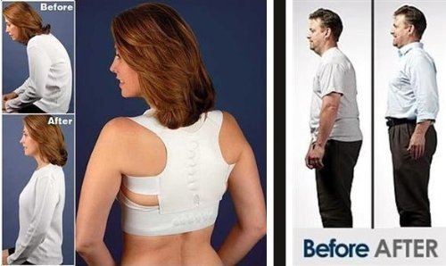 Royal Posture by BulbHead (S/M) - The Amazing Back Support Belt that Aligns Your Spine, Posture Corrector Brace