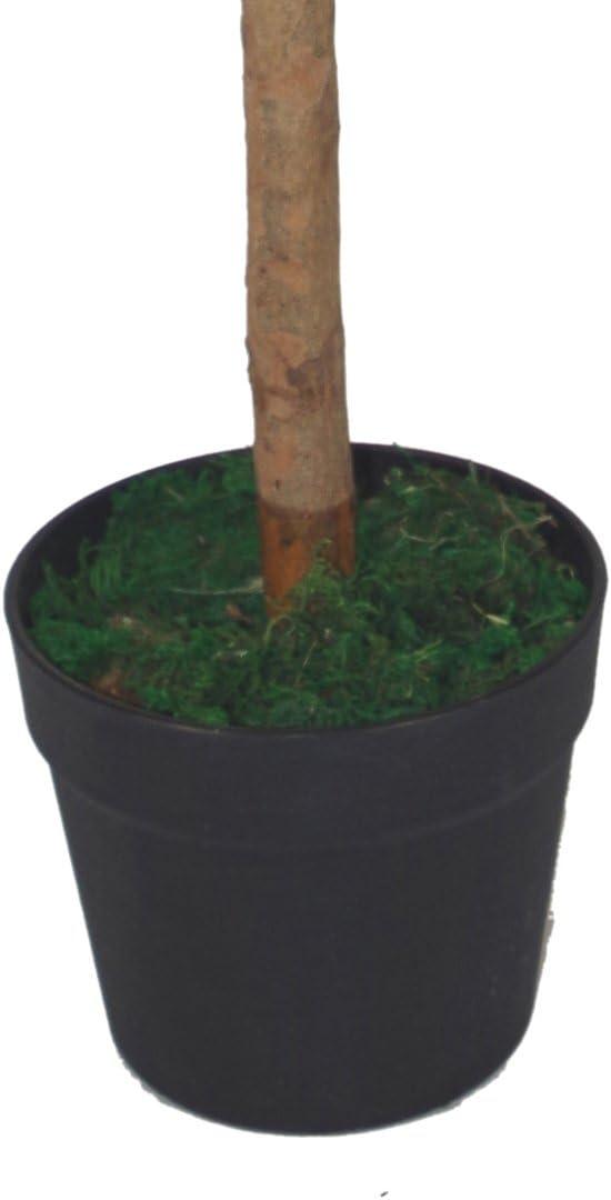 Leaf 4ft Stem Artificial Topiary Bay Laurel Ball Trees, Pair 120cm Plain