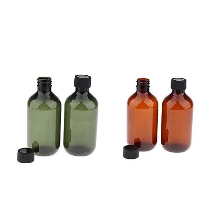B Baosity 4 Piezas 300ml Botella de Plástico Estuche de ...