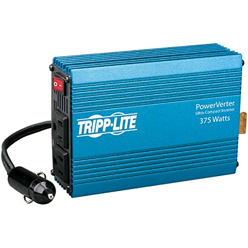 Tripp-lite PV375 375-Watt PowerVerter Inverter, Volts: 12 V, AC 120 V ( 60 Hz ), 2 x power NEMA 5-15, 1 x power cable