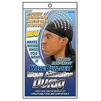 WaveBuilder Premium Hair Wave Activating Durag, Negro