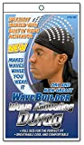 WaveBuilder Premium Hair Wave Activating Durag, Black