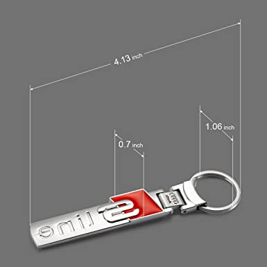 Car Key Chain for Audi S line Deselen LP-BS08KC Mirror Polished Stainless Steel Construction