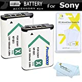 2 Pack Replacement NP-BX1 Battery Kit For Sony DSC-RX100M III DSC-RX100M IV DSC-RX1 DSC-HX300 DSC-WX300 DSC-HX50V Camera HDR-CX240 HDR-AS15 HDR-AS30V HDR-CX440 HDR-CX405 HDR-PJ440 FDR-X1000V AS200V