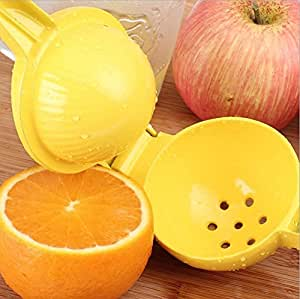 NUOMNG® Lemon Squeezer Manual Hand Orange and Lemons Citrus Juicer Simple Squeezed Orange Juice Machine- Yellow
