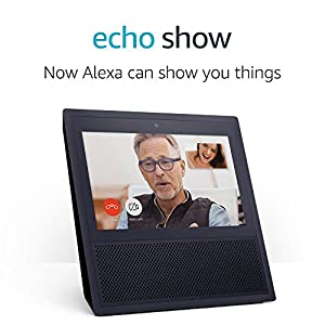 Echo Show, Smart speaker and 7-inch screen with Alexa - Black