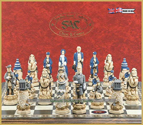 American Civil War Chess Set - Handmade and Hand Painted - 5 Inches (Best Weapons In Mass Effect 1)
