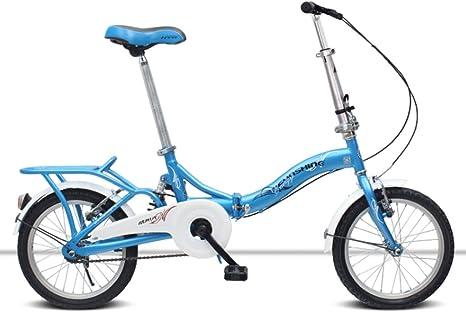 Weiyue Bicicleta Plegable- Bicicleta Plegable de 16 Pulgadas ...