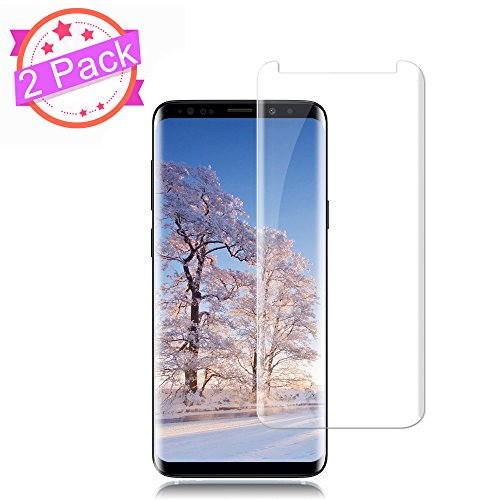 [2 Pack] Galaxy S9 Screen Protector 9H Hardness/Anti-Scratch/Anti-fingerprint/Anti-Bubble/3D Curved/High Definition/Ultra Clear Tempered StinkLight Glass Screen Protector Compatible Samsung Galaxy S9 from StinkLight