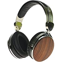 Symphonized Wraith 2.0 Premium Genuine Wood Headphones with Mic - Walnut