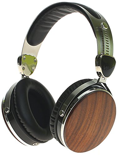 - Symphonized Wraith 2.0 Premium Genuine Wood Over-Ear Headphones with In-Line Microphone, Tangle-Free Noise-Isolating Wired Stereo Earphones with Spare Replacement Cable Included, Walnut Finish