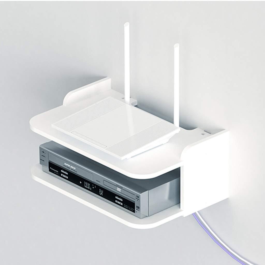 ホワイトウォールマウントセットトップボックス収納棚フローティング棚テレビスタンドウォールシェルフテレビキャビネットテレビコンソールテレビ棚用ケーブルボックスDVDプレーヤー収納棚 (色 : C) B07S58LK45 C