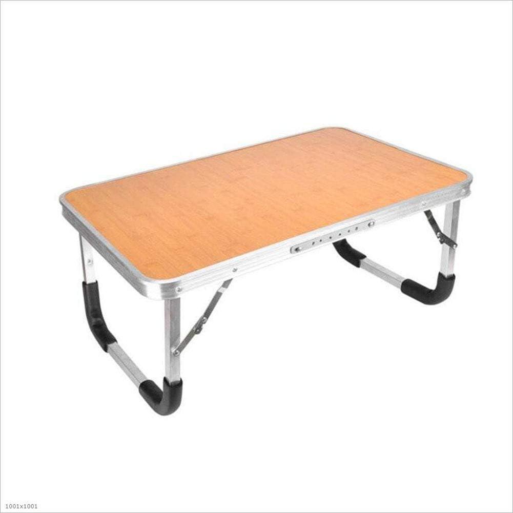 KQYAN Plegable portátil Table Stand-Bandeja de la Cama del Escritorio del Ordenador portátil Partido Picnic Camping Interior de la Tabla al Aire Libre, 60x40x27cm (Color: Rosa) Facil de Instalar