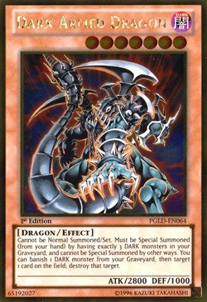 Yu-Gi-Oh! - Dark Armed Dragon (PGLD-EN064) - Premium Gold - 1st Edition - Gold Rare (Dark Armed Dragon Gold)