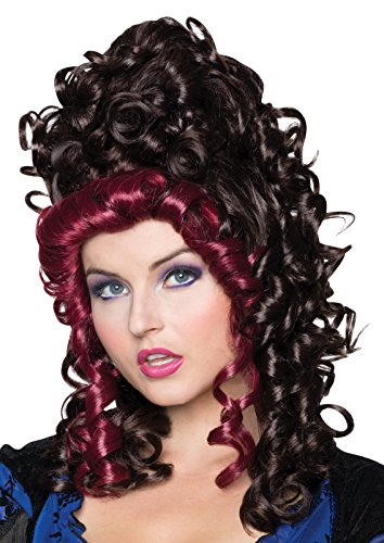 Steampunk Wigs (Rubie's Costume Co Women's Victorian Wig, Brown/Burgundy, One Size)