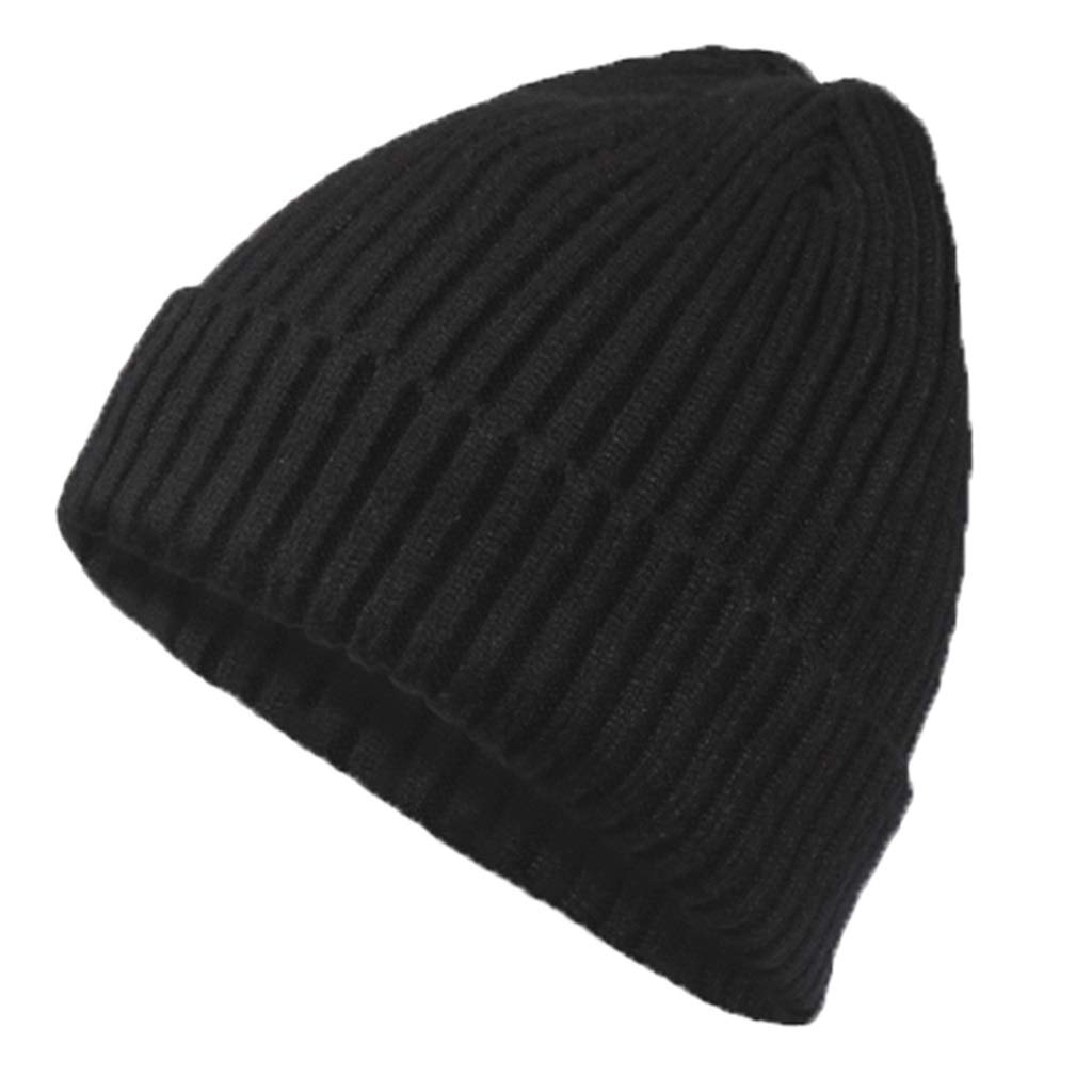 Y-yan Mens Wool Cap Mens red Light Weight and Good Warmth Keep Warm in Winter Outdoor Riding Essential Color : Black