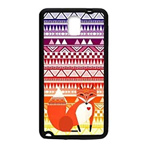 Hoomin Colorful Retro Aztec Tribal Fox Pattern Samsung Galaxy Note3 Cell Phone Cases Cover Popular Gifts(Laster Technology)