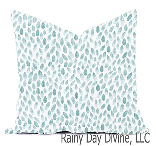Pillow Cover Custom Spa Green Blue Mist Gray Charcoal Modern 16x16 18x18 all sizes