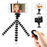 Octopus Style Flexible Cell Phone Tripod ,Crazedigi Portable Mini Tripod Stand Holder with Remote for Iphone& Android Phone, Camera