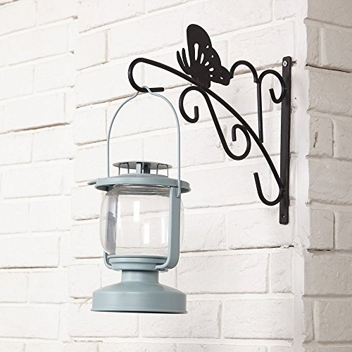 Amagabeli Indoor Outdoor Garden Wrought Iron Black Hanging Plant Bracket Planter Hooks Hangers for Wind Chimes Bird Feeder Pole Lantern Hangers Hanging Planters Wall Brackets Plant Stand ,11