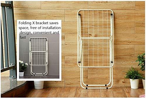 Jueven Tendedero de Ropa de Acero Inoxidable 100/% Rack de lavander/ía Que Ahorra Espacio Plegable para Uso en Interiores y Exteriores
