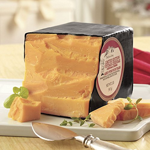Aged Cheddar Cheese (4-year Vintage Cheddar Cheese from The Swiss Colony)