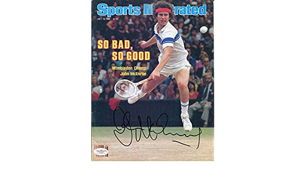 John McEnroe Autographed Sports Illustrated Magazine (JSA) at Amazons Sports Collectibles Store