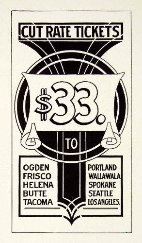 1937 Print Design Sidewalk Board Graphic Harry Hoag Decorative Frank Atkinson - Relief Line-block Print from PeriodPaper LLC-Collectible Original Print Archive