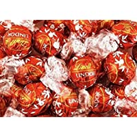 Lindt Milk Chocolate Truffles Box - of 100 Count - In a Deluxe Gift Box With Imprinted Red Ribbon and Bow