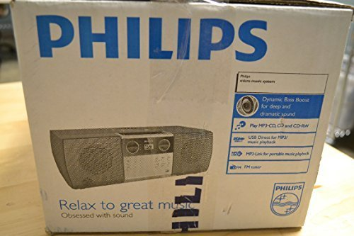 Philips MCM1006 Micro Portable Hi-Fi System, CD Player, MP3 Speaker, USB Input and FM Radio (Philips Cd Mp3 Player)