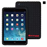 iPad Mini 1 and Mini 2 Case, Snugg Black Silicone Case [Non-Slip Material] Protective Rubber Back Case Cover Apple iPad Mini 1 and Mini 2