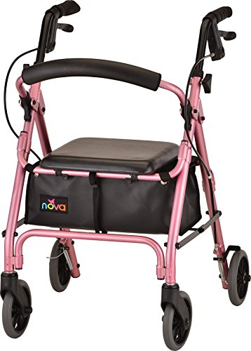 (NOVA GetGo Petite Rollator Walker (Petite & Narrow Size), Rolling Walker for Height 4'10