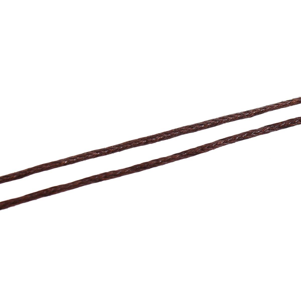 basteln 1 mm St/ärke Farbe:Braun Sadingo Wachskordel 90 Meter Makrammee Schnur Kordel f/ür Schmuck auf Rolle Armb/änder Machen