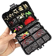 128pcs Fishing Accessories Hooks Swivels Weight Fishing Sinker Stoppers Connectors Sequins Lures Fishing Tackle Boxes Note: The colors deviation might differ due to different monitor settings. We provide you with the best product and service,...