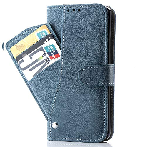Galaxy Grand Prime Case,Phone Cases Wallet Leather with Credit Card Holder Slim Rugged Kickstand Stand Flip Folio Magnetic Protective Cover for Samsung Galaxy J2 Prime Women Men Girls Blue (Best Phone Case For Galaxy Grand Prime)