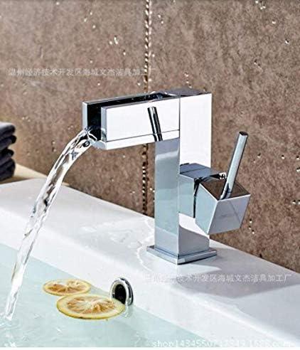 ZJN-JN 蛇口 バスルームのシンクは、スロット付き浴室の洗面台のシンクホットコールドタップミキサー流域の真鍮シンクミキサータップ非震とう浴室蛇口LED流域の蛇口プルアウト蛇口春蛇口風呂の蛇口をタップ 台付