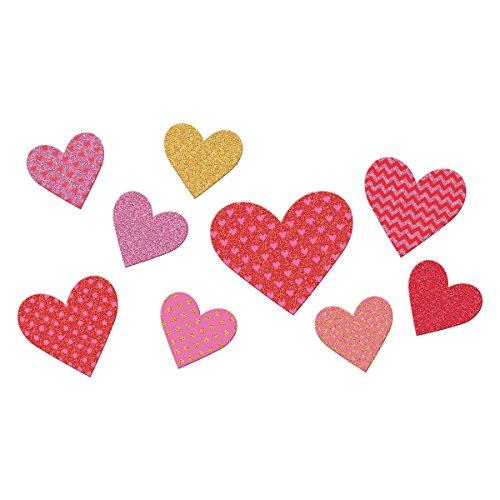 Amscan Blushing Valentine's Day Chevron and Dots Glitter