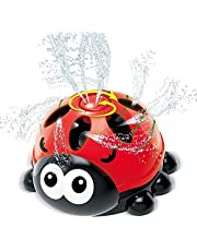 INSOON Water Spray Sprinkler for Kids Outdoor Play Backyard Rotating Ladybug Sprinkler Water Toys for Toddlers Boys Girls Splashing Fun for Summer Days Great Gift for 3+ Years Old
