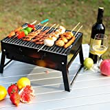 Charcoal BBQ Grill . Stainless Steel Portable Folding Charcoal Grill for Cookouts, Tailgate Parties, Car Camping Camping Outdoor