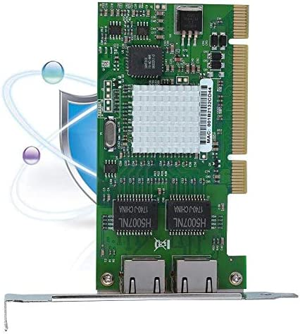 WYKDL Scheda NIC Dual Port Network PCI Card Adapter for Intel 82546EB 8492MT PCI Gigabit Ethernet LAN Network Adapter Ethernet Gigabit con Placcato Oro interfaccia PCI Interface